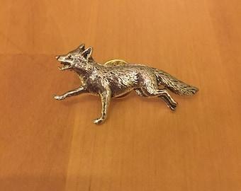 Fox Pewter Pin/ Brooch/ Badge