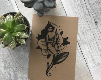 Pin Up Woman Bosom Nectar ((Print))