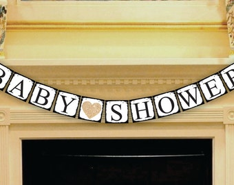 Baby Shower Banner - Boy - Girl - Gender Neutral Sign - Garland