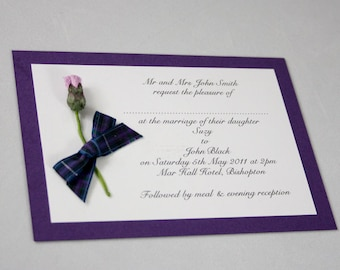Tartan Thistle Wedding Invitation