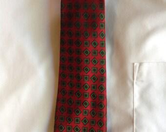 70s Christian Dior Skinny Necktie  / Haute Couture Designer Dior Burgundy Man Tie  /  Free Shipping USA  /  KnotMyTie