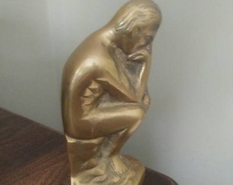 Vintage Thinking Man bookend