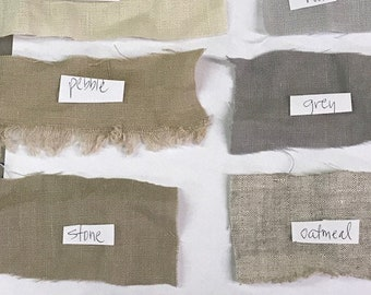 SAMPLES-Samples of Washed or Unwashed Linen-Whites-Neutrals-Pastels-Your Color Choice-Up to 5 Samples Per Envelope