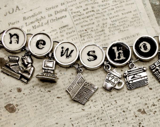 Newshound Charm Bracelet Journalist Reporter Editor Newspaper News Jewelry