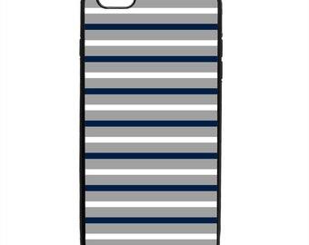 Nautical Stripe Print Phone Case Samsung Galaxy S5 S6 S7 S8 S9 Note Edge iPhone 4 4S 5 5S 5C 6 6S 7 7S 8 8S X SE Plus