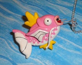 Pokemon - Magikarp Fishing Necklace - Pink Dapples Magikarp Jump Charm