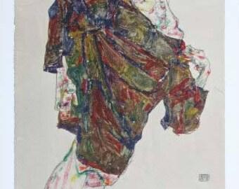 """Schiele Egon, 34, Lithograph,""""Deliverance"""" printed1968  -e"""