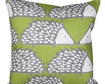 Scion Spike Hedgehog Kiwi Green Cushion Cover