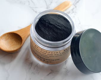 Activated Charcoal / Activated Charcoal Powder / Charcoal Mask / Clay Mask / Acne Soap / Acne Treatment / Bentonite Clay / Mothers Day Gift