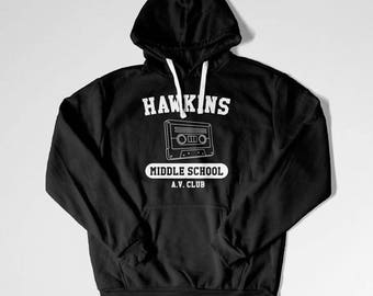 Stranger Things Sweater Hawkins Middle School Hoodie Stranger Things Sweatshirt Gifts for Fans Shirts with Saying Funny Slogan Shirt TEP-25