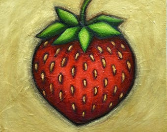 Heart Berry canvas giclee