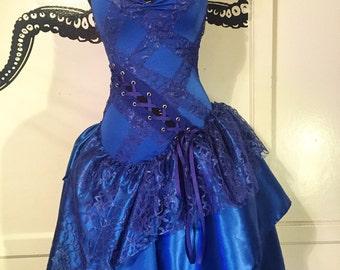Unique Wedding Dress - Whimsical Dress -   Vintage Whimsical Merlot Dress - Corset Dress - Made to Order
