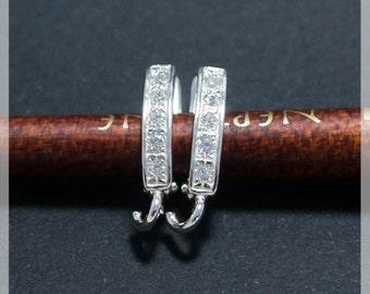 Sterling Silver Leverback, Ear hooks, Ear wire, earrings components B31
