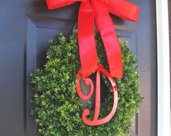 Christmas Decor- Christmas Wreaths Holiday Boxwood Wreath, Christmas Wedding Decor 16-22 inches available