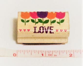 Love and Flowers Rubber Stamp Valentines Day