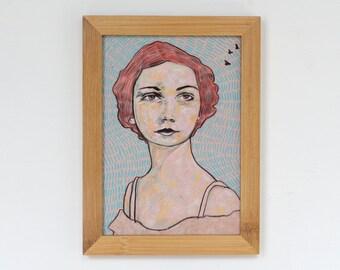 Framed Portrait Giclee Art Print 5x7