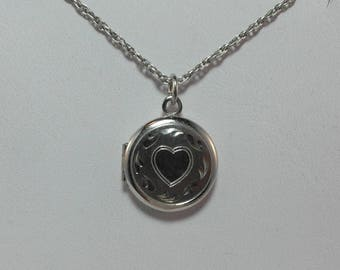 Dainty Locket Made of Sterling Silver with Chain