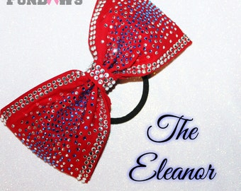 The Eleanor - Gorgeous New Sewn Rhinestone HOT PINK Boutique Bow by Funbows