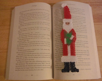 Needlepoint Santa bookmark // Fun Bookmarks for Kids // Christmas Gift // Plastic Canvas Bookmarks // Book mark as a Gift  // Santa Claus
