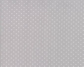 Sugar Plum Christmas Dot Mouse Gray fabric by Bunny Hill Designs for Moda Fabric #2918-19