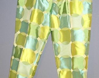 Vintage 80s, Akris, Bergdorf Goodman, silk blend, narrow leg, cigarette pants, size US 8