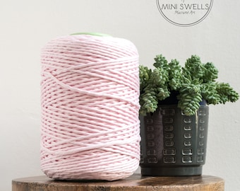 Cotton Candy Pink Cotton Rope - Super Soft Luxe Cotton Cord - 5mm - Macrame Rope - Diy Macrame - Rope - Weaving  - Macrame