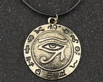 The Eye Of Horus Leather Egyptian Necklace