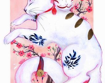 kitsune cat print