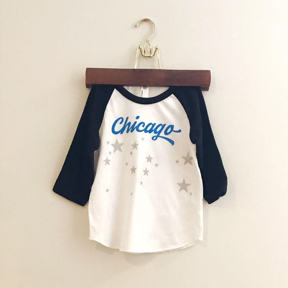Chicago baby and kids baseball tee. Chicago star tshirt. Baby gift