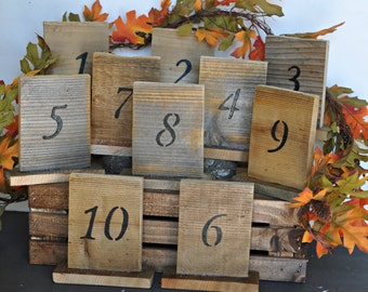 rustic table numbers, rustic wedding table numbers, rustic barn wood table numbers, country wedding signs, barn wedding table number, rustic