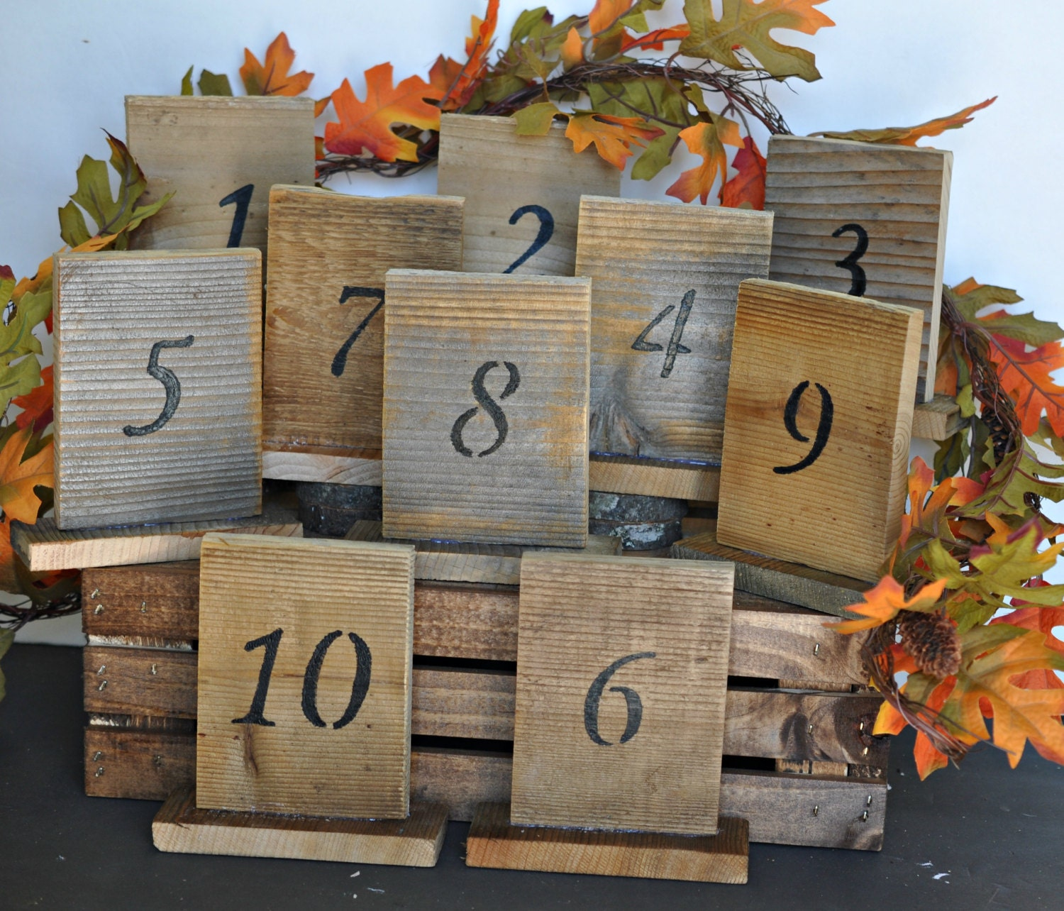 rustic wedding table numbers with stand wedding table number