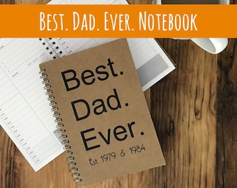 Personalised notebook - Best. Dad. Ever. - fathers day gift - daily planner - to do list - note book