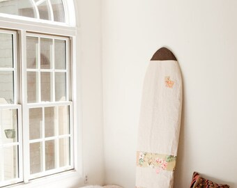 Boardbag Surfboard Bag Natural Canvas Surf Hawaii Aloha Patchwork