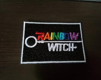 Rainbow witch sew-on Patch