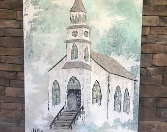 Custom 30x40 Open Doors Abstract Church, Farmhouse Decor Painting