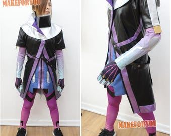 Women's OW Sombra Cosplay Costume purple