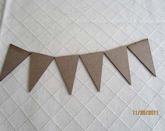 DIY Micro Banner Kit -Chipboard Banner Blanks -  Banner Shapes for Decorating-Unfinished Banners for Parties