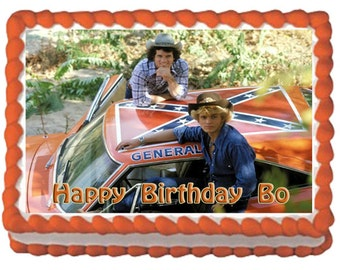 Dukes of Hazard Cake Topper/General Lee Cake Topper CHOOSE from 2