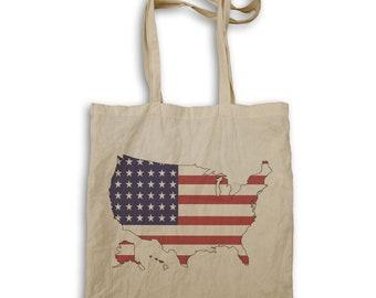 Usa Map America Flag Tote bag v579r