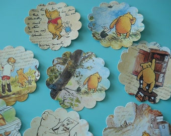 Winnie The Pooh Stickers,  Winnie the pooh Label, baby shower label,  birthday sticker,  Baby Shower Winnie the pooh theme
