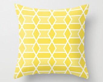 Yellow Geometric Pillow  // Modern Throw Pillow // Modern Home Decor // By Aldari Home