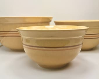 Mid Century Pfaltzgraff Ceramic Nesting Bowls, Vintage Mixing Bowls, Set of 3, Stoneware, Bowls, Serving Bowl, Farmhouse, Vintage Kitchen