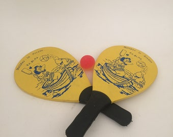 Beach racquets, Vintage paddles, Beach Ball paddles, Holidays in Greece