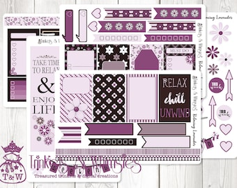 Relaxing Lavender Sticker Set for The Happy Planner   Planner Stickers   Planner Accessory