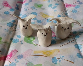 Little white clay bunny