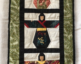 Quilted Wall Hanging - Geisha Girl