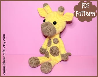 Giraffe Crochet Pattern, Giraffe Amigurumi, Amigurumi Pattern, Giraffe Plush, Giraffe Plushie, Giraffe Toy, Crochet Toy,
