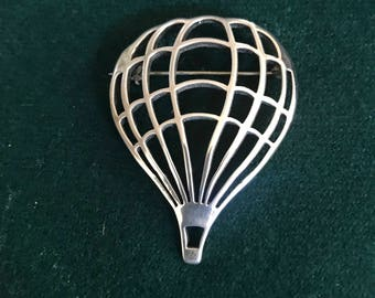 Hot Air Balloon Brooch