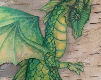 Dragon Jointed/Articulated Paper Doll Kit