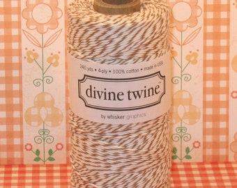 Brown Sugar - Brown and White Divine Twine  (240 Yds,)